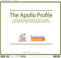 Apollo Personality Test Sales Presentation
