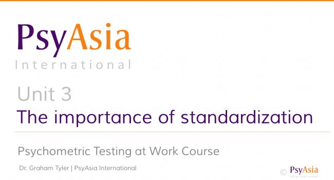 Unit 3 - The importance of standardization