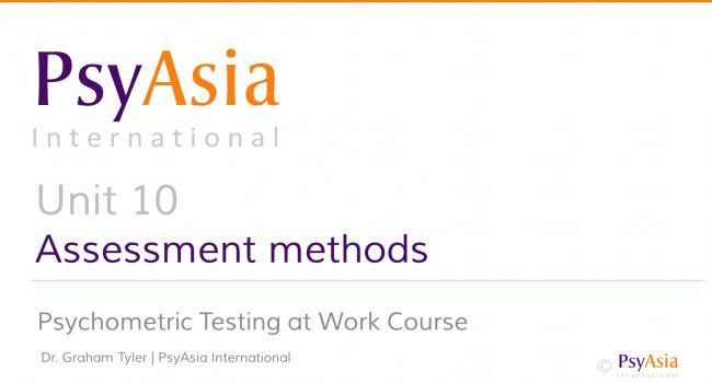 Unit 10 - Assessment methods