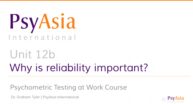 Unit 12b - Why is reliability important