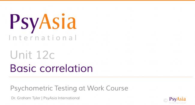 Unit 12c - Basic correlation