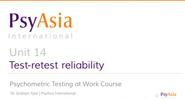 Unit 14 - Test-retest reliability