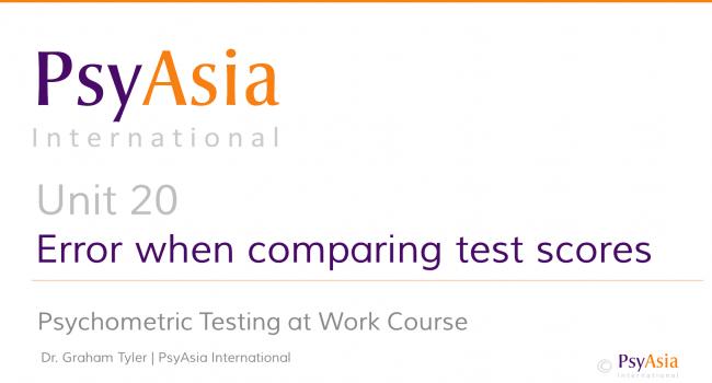 Unit 20 - Error when comparing test scores