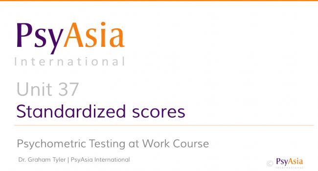 Unit 37 - Standardized scores
