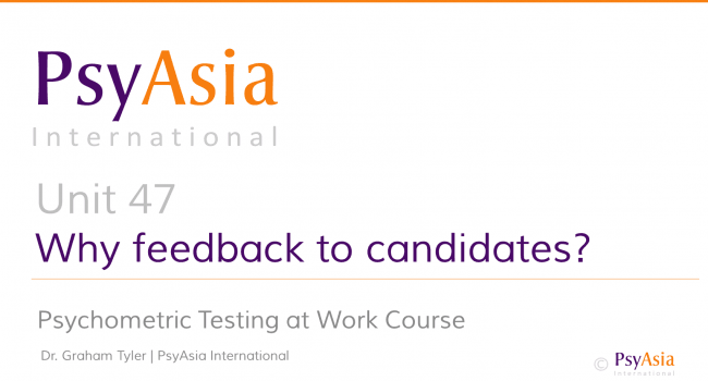 Unit 47 - Why feedback to candidates