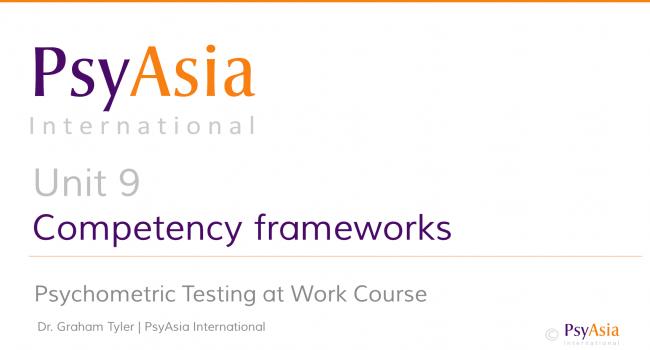Unit 9 - Competency frameworks